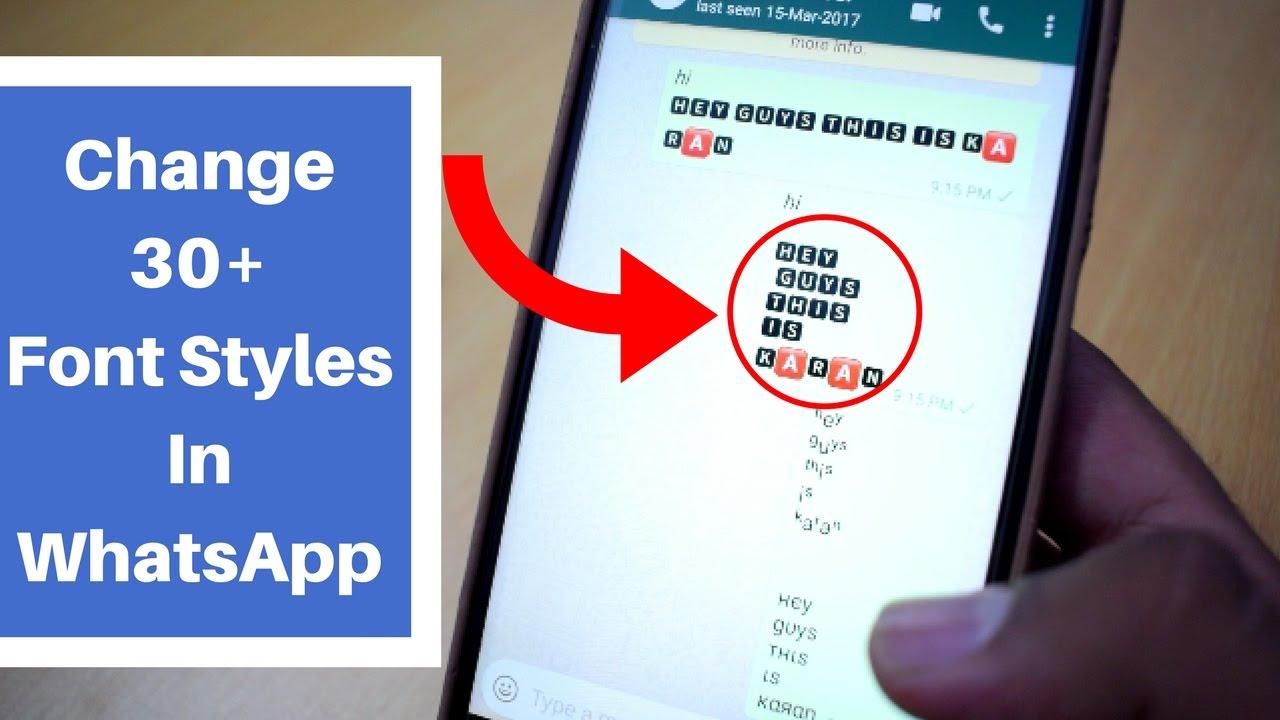 Stylish WhatsApp Font Tips and Tricks 2017