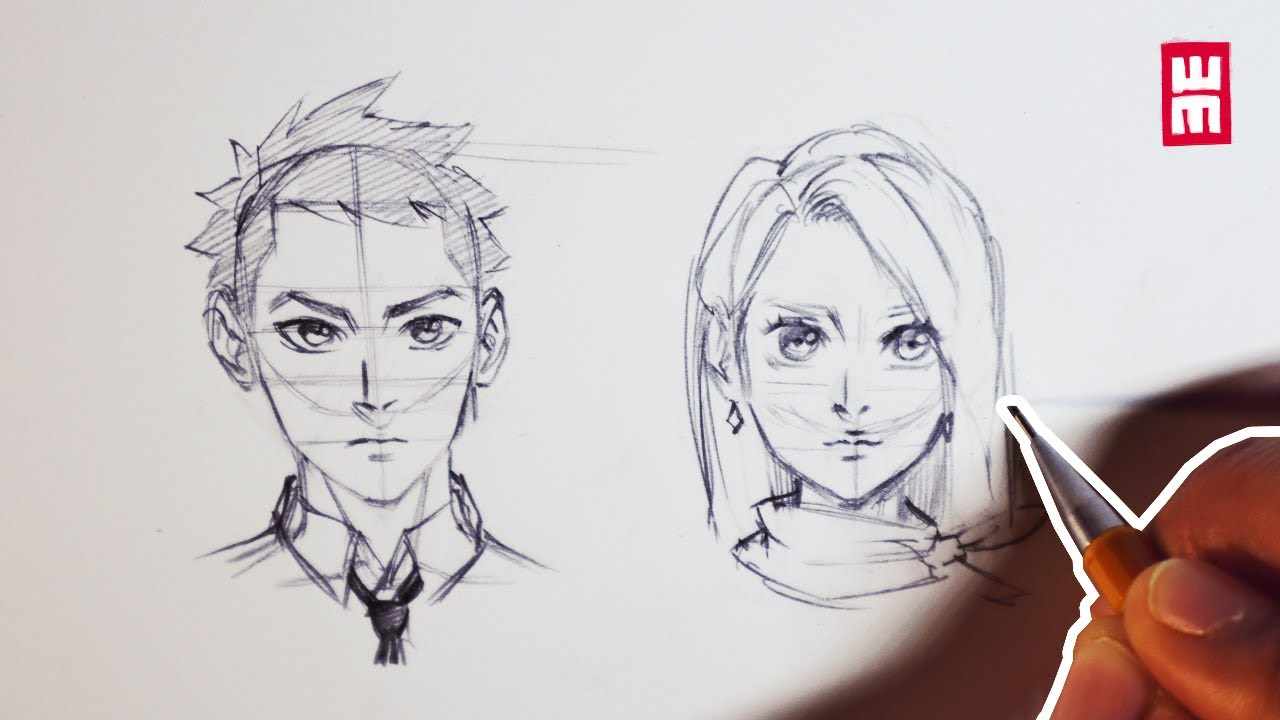 How To Draw Faces For Beginners Anime Manga Drawing Tutorial Youtube