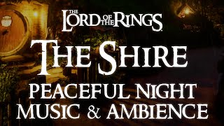 Lord of the Rings Music & Ambience | The Shire, A Peaceful Night in Bag End - Relaxing Evening Rain