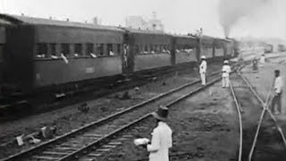 Jakarta, Indonesia, A Commuter Train travels through Batavia in 1915