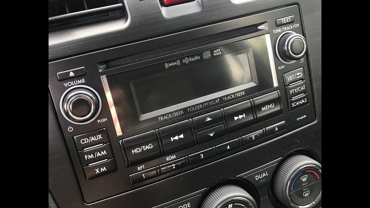 2015 subaru forester xt ep 62 checking your base radio firmware cf646uh  [ 1280 x 720 Pixel ]