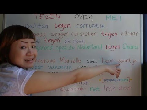 LEARN DUTCH/ NETHERLANDS & INDONESIAN/ BAHASA INDONESIA [IN ENGLISH] #45 AGAINST ABOUT WITH