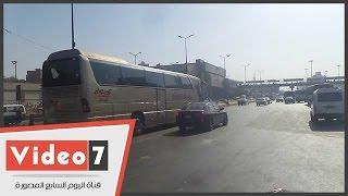 تعرف على خريطة الحالة المرورية بمحاور وميادين القاهرة الكبرى