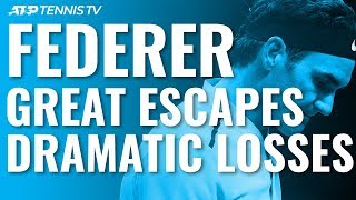 Roger Federer: Greatest Escapes & Most Dramatic ATP Losses