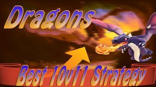 Best TH10 vs TH11 Attack Strategy 2017 | Dragons Best Troop in Clash of Clans? TH10 vs TH11