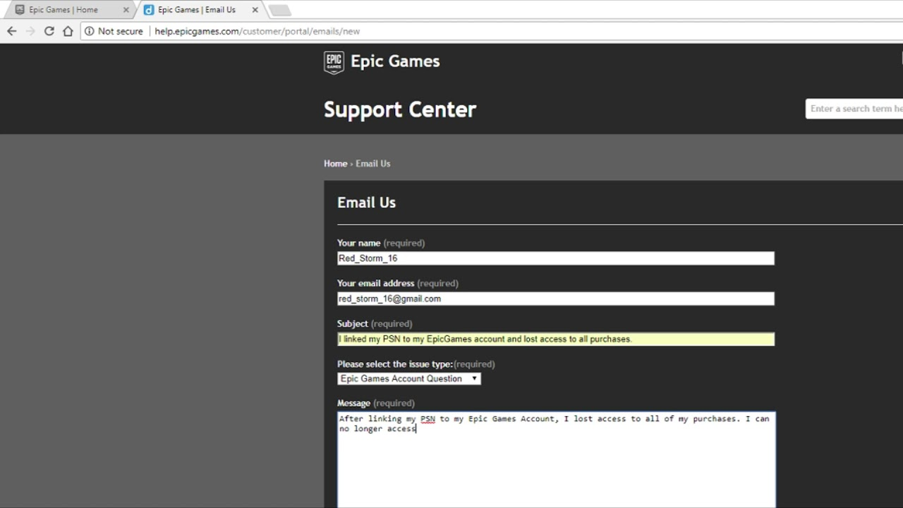 How To Contact Epic Games Support Read Description Doovi