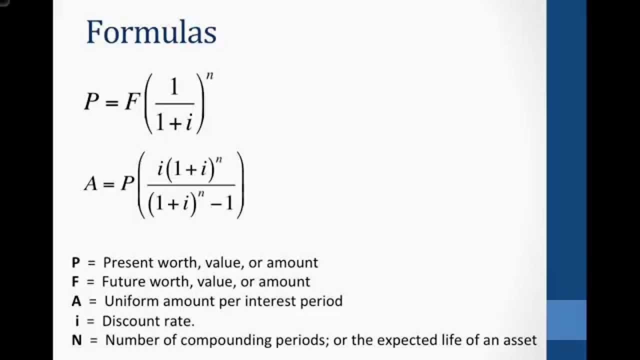 present value and annual worth