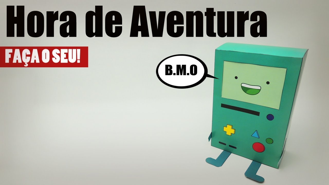 Papercraft Hora de Aventura BMO Papercraft: Faça o seu!
