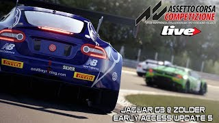 Assetto Corsa Competizione LIVE - Early Access Update 5 - Nuevo Jaguar G3 @ Zolder