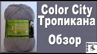 Пряжа Color City Тропикана. Хлопок + бамбук. Обзор и отзыв на пряжу для вязания.