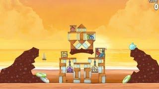 Angry Birds Rio Golden Beachball Level #29 Walkthrough