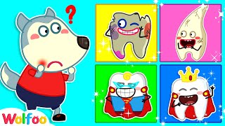 Download lagu Which Is Wolfoo's Wobbly Tooth? - Wolfoo Learn Healthy Habits for Kids | Wolfoo Family Kids Cartoon