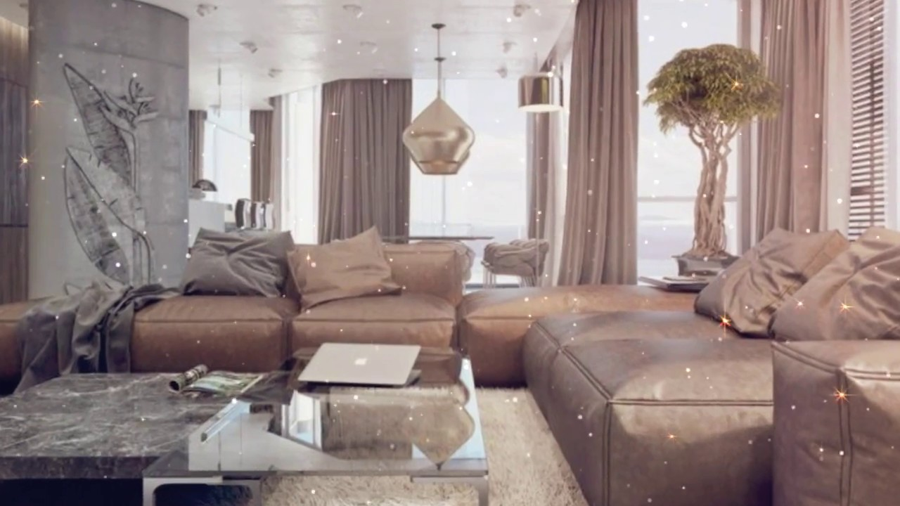 Farbkombination Grau Braun Weiß im Wohnzimmer – stilvolle  Einrichtungsbeispiele in Bildern