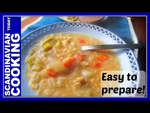 How To Make Traditional Homemade Danish Yellow Split-Pea Soup Recipe - Gule Ærter