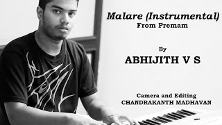 Malare Song from Premam on Keyboard - By Abhijith V S