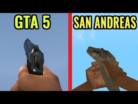 GTA 5 vs GTA San Andreas - Gameplay Comparison
