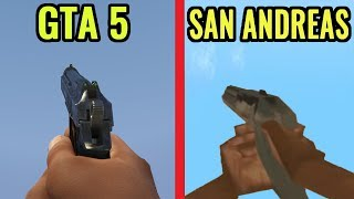 GTA 5 vs GTA San Andreas - Gameplay Comparison