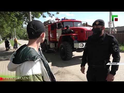 В Грозном сотрудники полиции проводят рейды по нарушителям режима самоизоляции