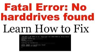 How to Fix Fatal error: no harddrive found MikroTik