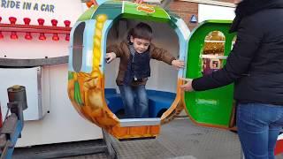 Kids Ride on Big Wheel Having Fun