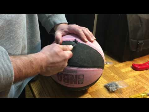 How to replace a leaky old air valve on a basketball, the easy way!