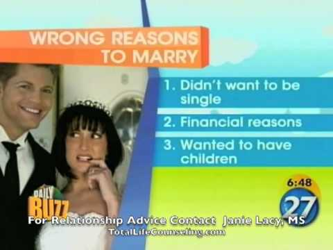 Orlando Marriage Counselor Advice | 5 Wrong Reasons to Marry | Therapist Tips Video