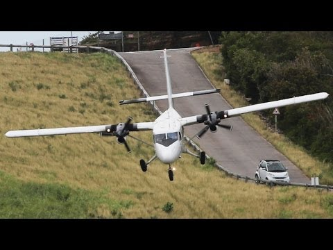 Crazy Landings - St.Barth Nose-down Arrivals - Dash 6 Twin Otter ( HD )