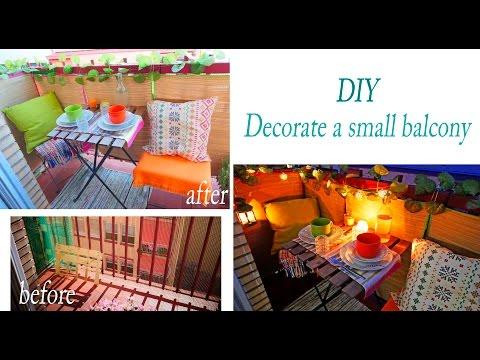 DIY  small urban Balcony Makeover On A Budget