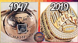 NBA Championship Rings Through The Years (1947 - 2019)