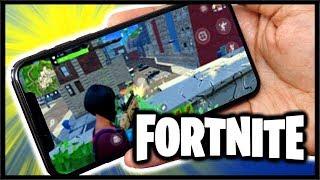 FORTNITE ON MOBILE IS HERE!! | Fortnite: Battle Royale Mobile Gameplay