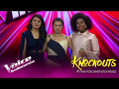 Nikita Vs Jacqoeline Vs Vionita   Knockouts   The Voice Indonesia GTV 2019