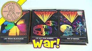 Magnavox Odyssey2 (Video 8) Vintage Video Games - Blackjack, Got Your Number, War of Nerves