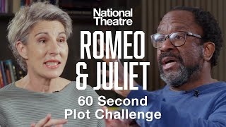 60 Second Plot Challenge: Romeo & Juliet Cast with Jessie Buckley & Josh O'Connor | National Theatre