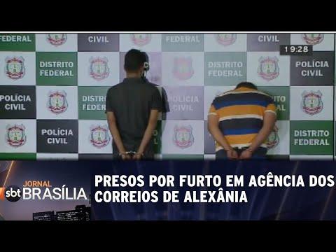 Bandidos são presos por furto em agência dos correios de Alexânia | Jornal SBT Brasília 13/08/2018