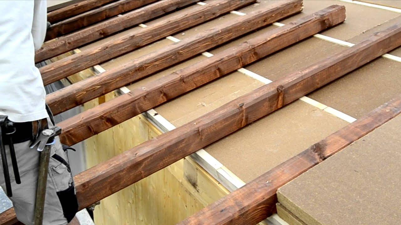 Tetto in fibra di legno youtube for Montaggio tetto in legno ventilato