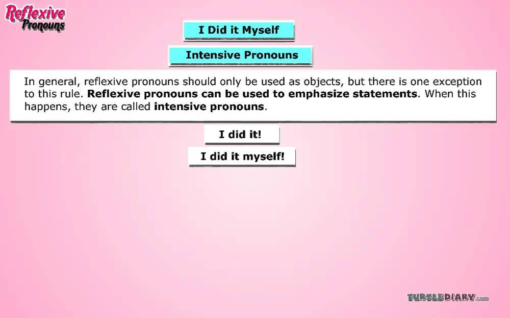 Intensive Pronouns