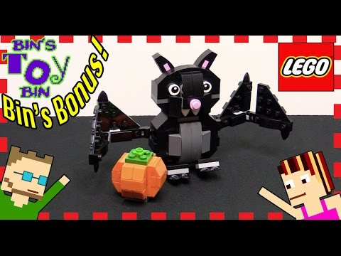 Halloween Season Lego Bat & Pumpkin Set! | Bins Bonus | Bins Toy Bin