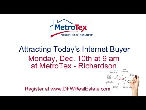 Attracting Today's Internet Buyer at MetroTex - Richardson