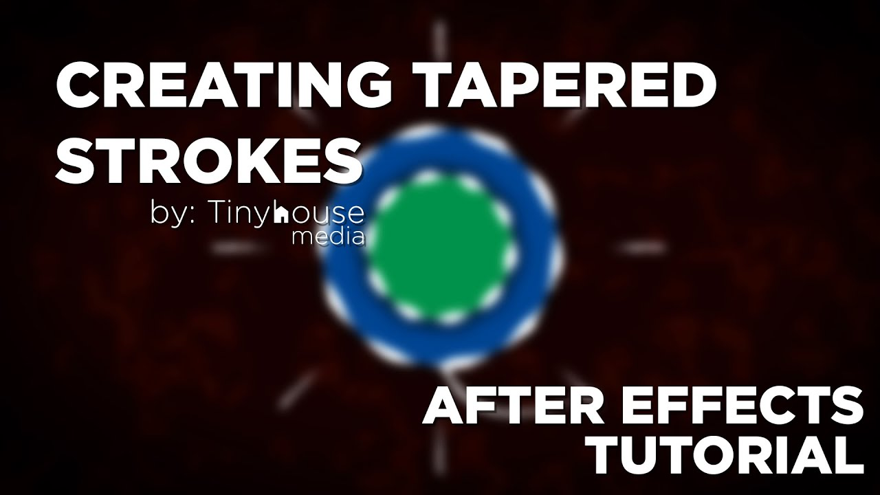 Creating Tapered Strokes - After Effects Tutorial
