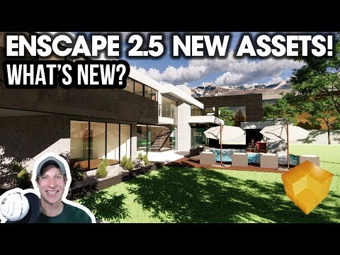 Exploring the Enscape 2 5 Asset Library - What's New? - YouTube