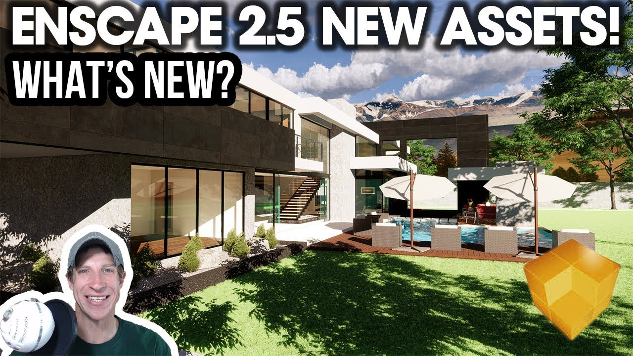 Exploring the Enscape 2 5 Asset Library - What's New?