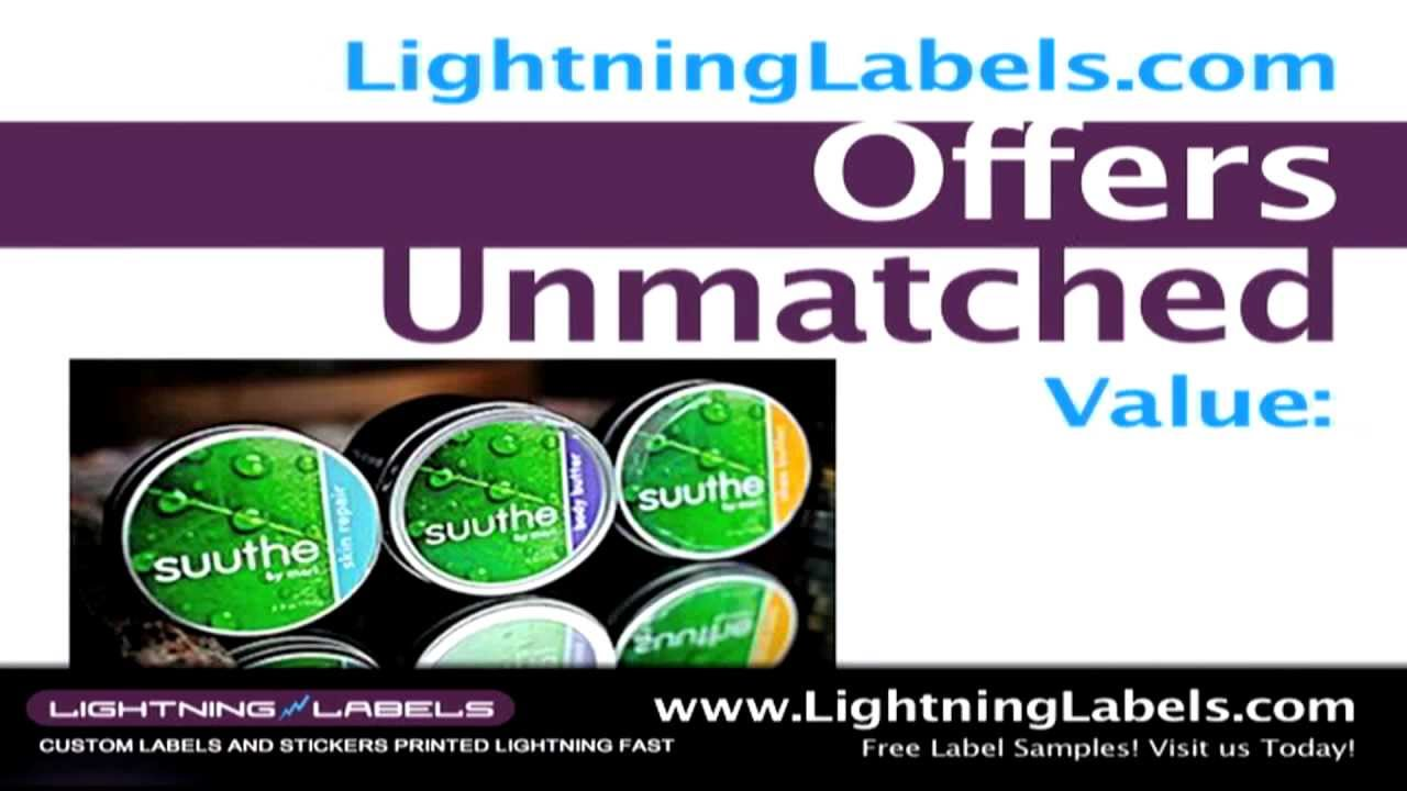 Order custom stickers online lightninglabels com