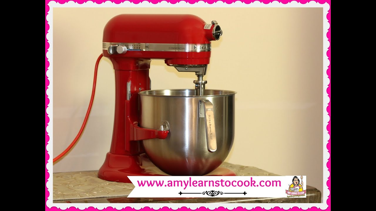 KitchenAid Commercial Stand Mixer 8 Quart Unboxing U0026 Review ~ KitchenAid  Mixer KSM8990   YouTube