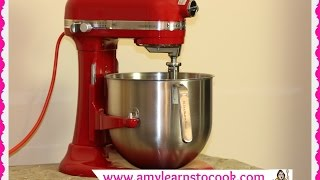 KitchenAid Commercial Stand Mixer 8 Quart Unboxing & Review ~ KitchenAid Mixer KSM8990(Join Amy for an unboxing of a KitchenAid Commercial Stand Mixer. This stand mixer is 8 quart and is NSF rated for commercial use. This mixer is great for bread ..., 2016-01-05T13:16:58.000Z)