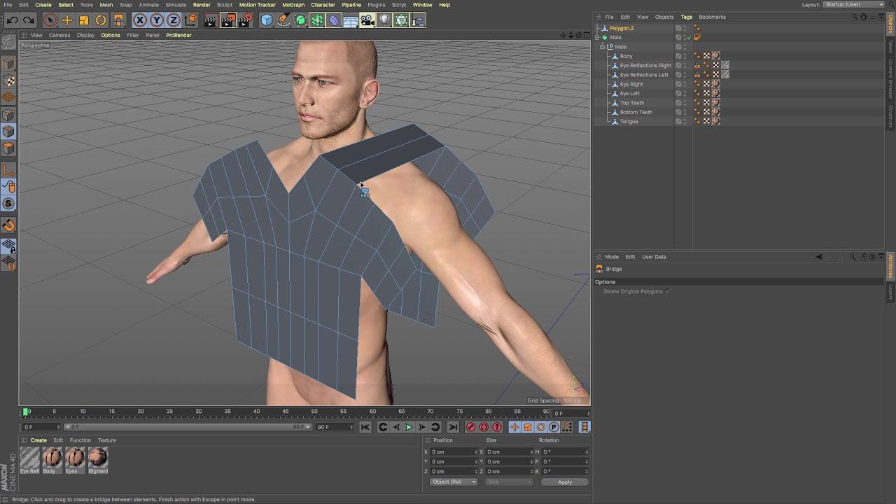 Cinema 4D Tutorial - How to use Dress-o-matic