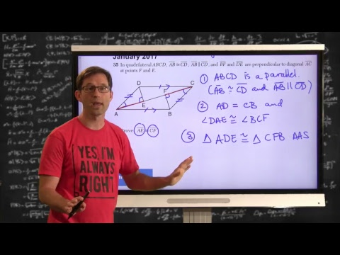 January 2019 Geometry Regents Video Answer Key MC 1-12 - YouTube