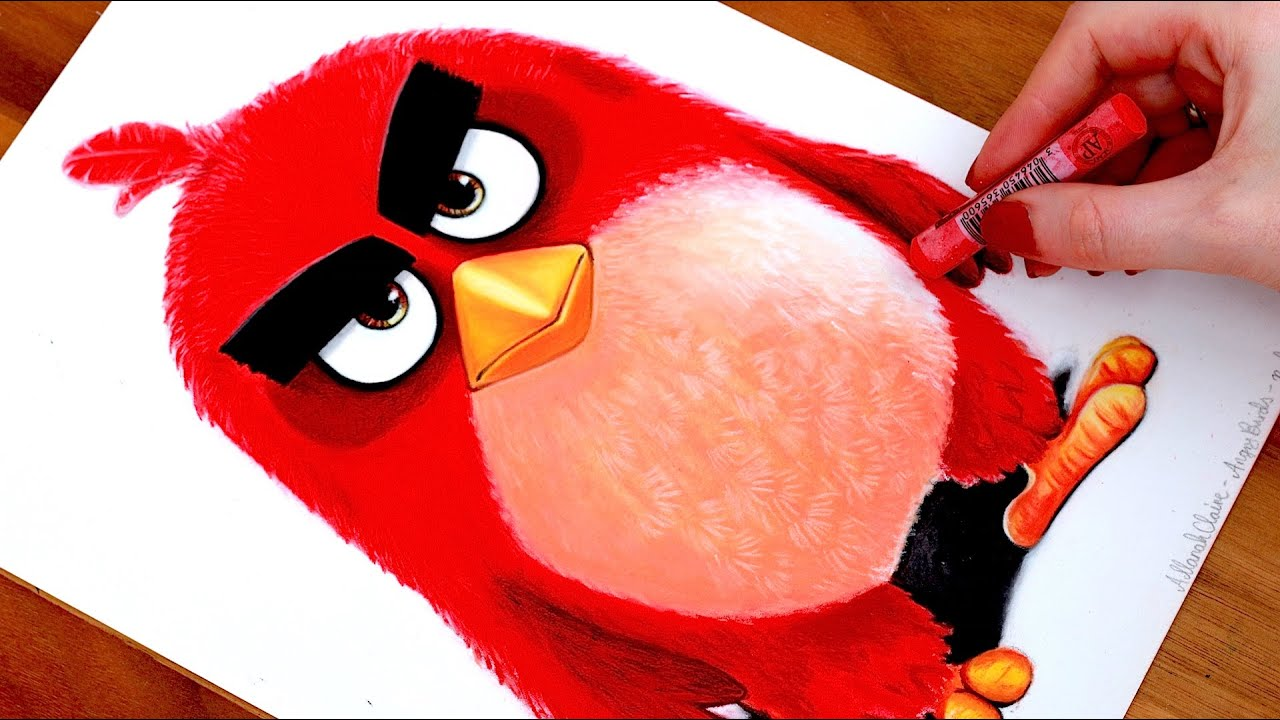 Angry Birds Drawing Red Youtube
