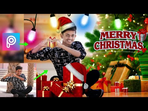 merry christmas picsart photo editing tutorial merry christmas 2017