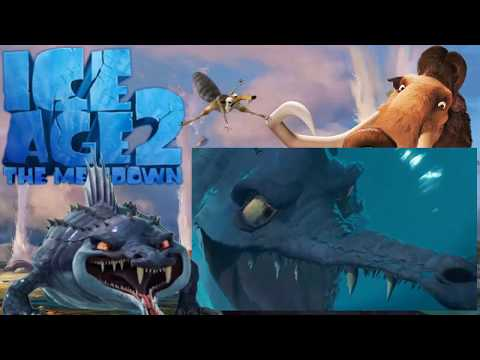 CRETACEOUS AND MAELSTROM - ICE AGE 2 THE MELTDOWN (2006) | BLUE SKY STUDIOS