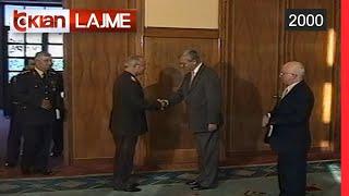 Gjenerali turk i NATOs Akbash takim me Presidentin Mejdani (22 Qershor 2000)